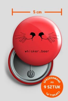 Przypinka whisker.beer