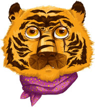 Hipsterski tygrys - koszulka