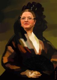 Portret Krystyny Pawłowicz z wachlarzem