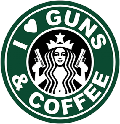I Love Guns and Coffee short