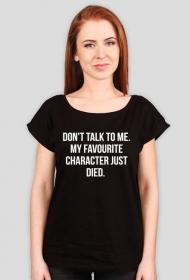 Don't talk to me - black