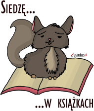 Koszulka dziewczęca Siedzę w książkach (szynszyla)