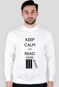 Bluza męska biała Keep calm