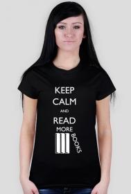 Koszulka damska (czarna) Keep calm