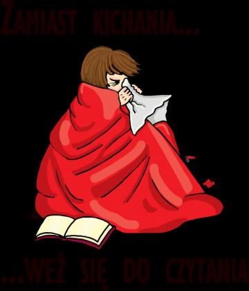 Poduszka Zamiast kichania weź się do czytania