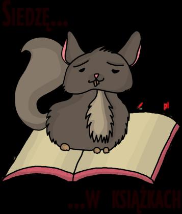 Koszulka damska bez rękawów Siedzę w książkach (szynszyla)