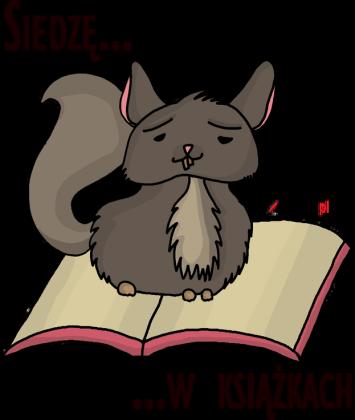 Koszulka damska Siedzę w książkach (szynszyla)