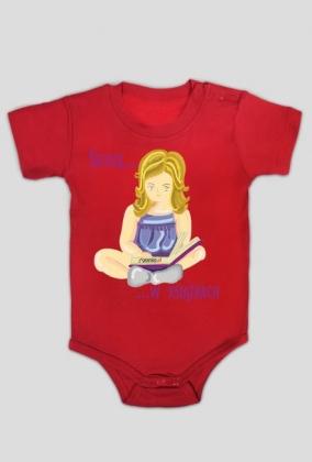 Body niemowlęce Siedzę w książkach (dziewczynka)