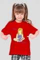 Koszulka dziewczęca Siedzę w książkach (dziewczynka)