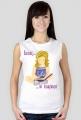 Koszulka damska bez rękawów Siedzę w książkach (dziewczynka)