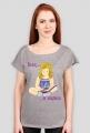 Koszulka damska Siedzę w książkach (dziewczynka)