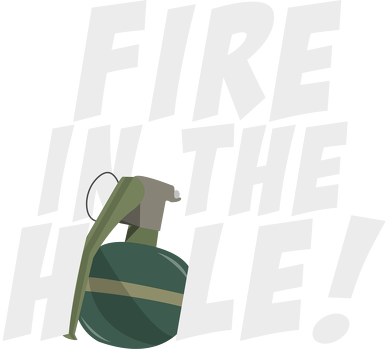 Fire in the hole! - Plecak