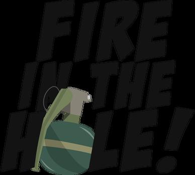 Fire in the hole! - Plecak Biały