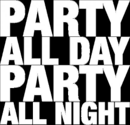 Koszulka męska - PARTY ALL DAY, ALL NIGHT (różne kolory)