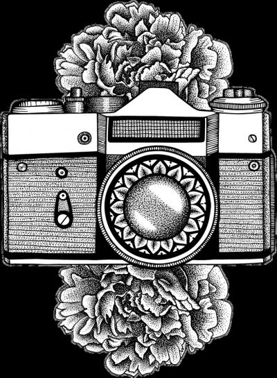 FLORAL CAMERA - ekotorba z aparatem fotograficznym w Camwear