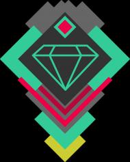 Diament Abstrakcja Kształty Koszulka z nadrukiem