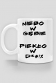 Męskie Żarcie - Niebo i Piekło - kubek lite