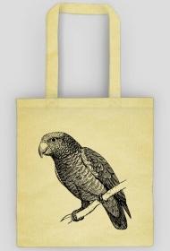 Eko torba bawełniana z papugą - różne kolory
