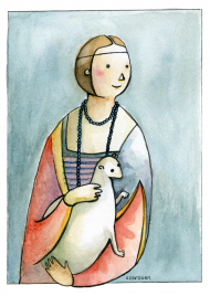 Plakat Dama z łasiczką