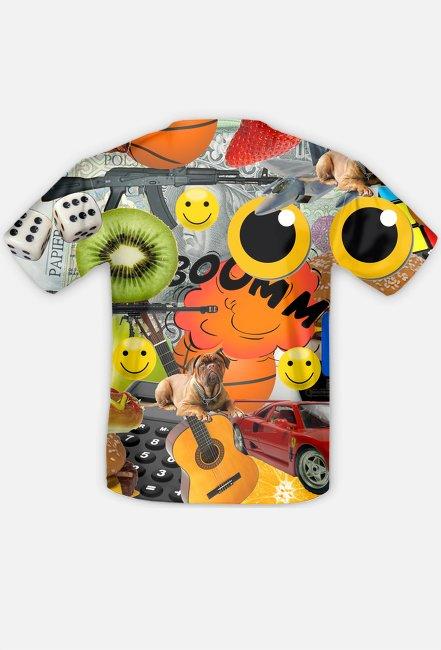 Koszulka-kolaż męska - Koszulka FullPrint MuodeMotywy