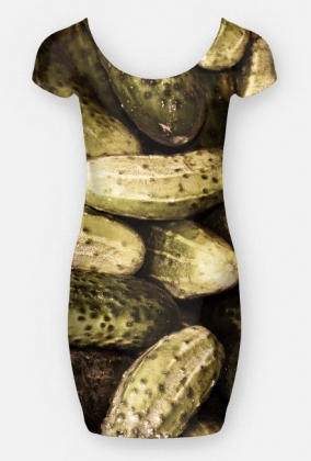 Sukienka w ogórki - Sukienka FullPrint MuodeMotywy