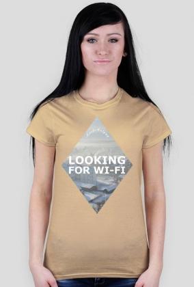 LOOKING FOR WI-FI - Koszulka damska MuodeMotywy