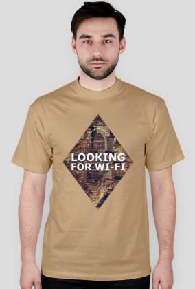 LOOKING FOR WI-FI - Koszulka męska MuodeMotywy