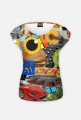 Koszulka-kolaż damska - Koszulka FullPrint MuodeMotywy