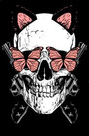 """Koszulka"""" My life is tattooed"""" biała"""