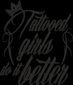Koszulka Tattooed Girls Do It Better
