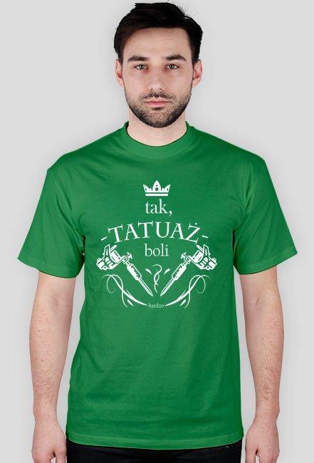 Koszulka Czarna Meska - Tak,Tatuaż Boli Bardzo