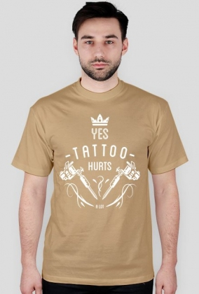 "T-shirt ""YES TATTOO HURTS A LOT"" ENG"