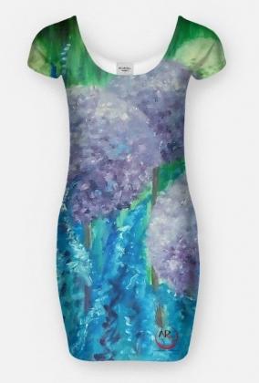 czosnki ozdobne sukienka kobieca