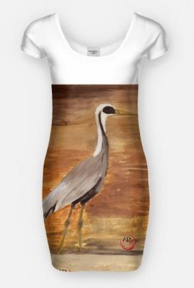 ptaki w przestrzeni - kobieca sukienka