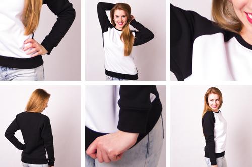 Zdjęcie rzeczywiste swag, print sweater