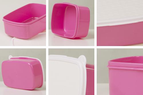 Zdjęcie rzeczywiste Pudełko śniadaniowe/ lunch box różowy JESTEM SUPERDZIEWCZYNĄ! KOLOR